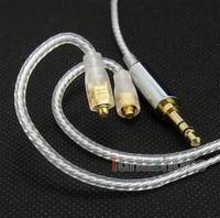 LN004648 Prata PL Fone de Ouvido DIY CABO Para Westone W40 W50 W60 UM30PRO UM40PRO UM50PRO Aventura ADV ALFA|cable vw|silver plated hdmi cablessilver power cable -