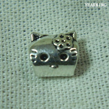 Yearning Jewelry Accessories Alloy Antique Silver Big Hole Beads Charm KIT Cat beads Fit Bracelet 100PCS