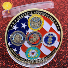 Army,Marines,Navy,Air Force,Coast Guard Commemorative Coin Military Honor Coins Collectibles Grateful Faithfulness Soldier
