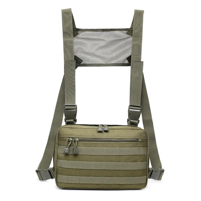 2019 New Chest Bag Adjustable Oxford Tactical Chest Rig Hip Hop Streetwear Functional Shoulder Bag Waist Packs