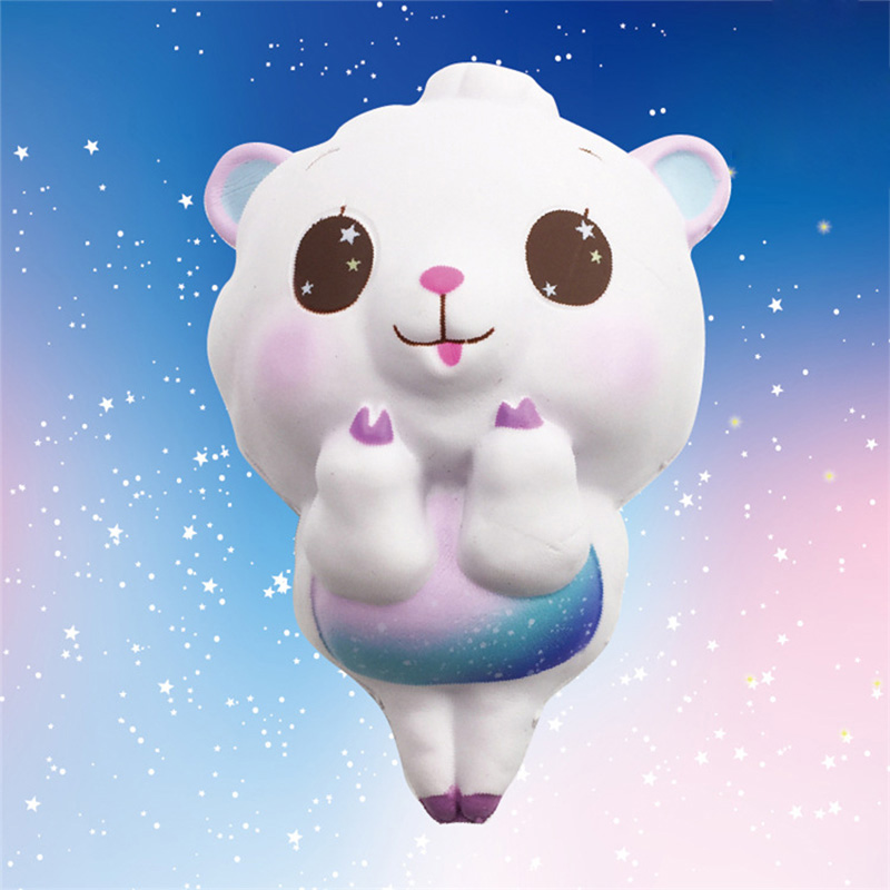 14.5CM Squishy Big Sheep Head Squeeze Kawaii Slow Rising Toy Children Gifts Phone Straps Hand Toys Keychain Decompression