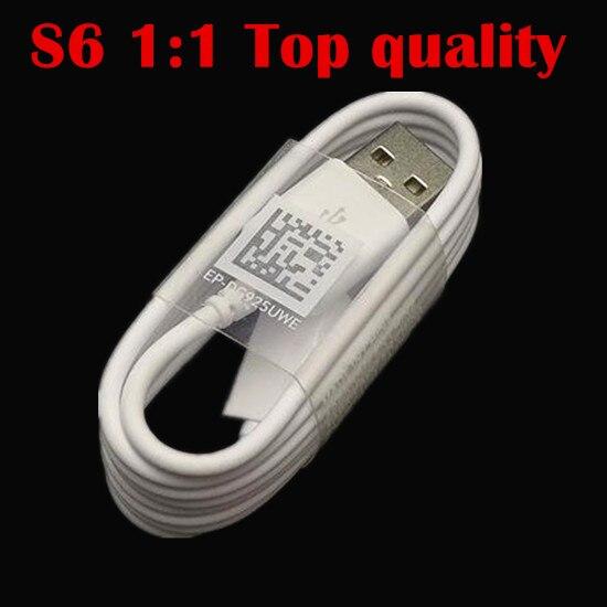 imágenes para 100 unids/lote 1.2 M 1:1 de Calidad Superior Micro V8 cable de datos usb de carga rápida sync Cable cargador para samsung s6 s6 edge S4 Paquetes Accesorios