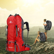 Waterproof Large 60L Travel backpack Rain Cover Bag Climbing Mountain Backpack For Sport Outdoor Camp Equipment Hike Bike Bags
