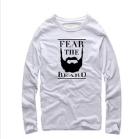 2016 New Brand Clothing Basketball Star James Harden Fear The Beard Printed T Shirts Homme O