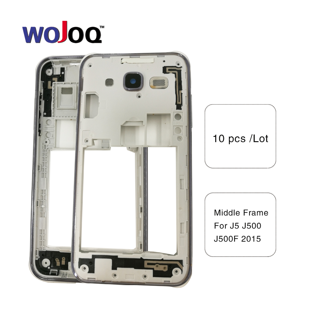 10 Pcs/Lot, WOJOQ New For Samsung J5 J500 J500F 2015 J7 J700 J700 Middle Plate Frame Bezel Housing Cover with camera lens