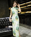 Traditional Chinese Dress Women's Velour Long Cheongsam Qipao Sexy Evening Dress Size S M L XL XXL