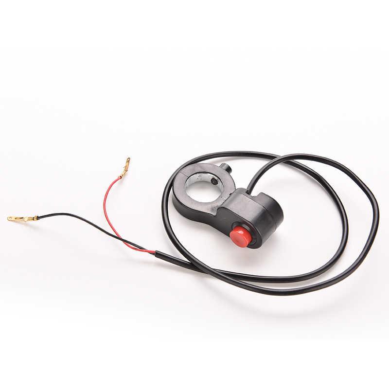 Interrupteur universel de guidon de moto   Démarreur de klaxon, interrupteur à bouton de mort, nouveau 7/8 ''pour moto, interrupteur unique du moteur de vélo E, câble de 0.7m 1PC