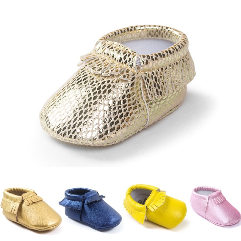 Gold Shiny Baby Boy Shoes Fringe Newborn First Walker Infant Shoe For Girls Socks Soft Anti-Slip Babies Moccasin Bebe Sneakers