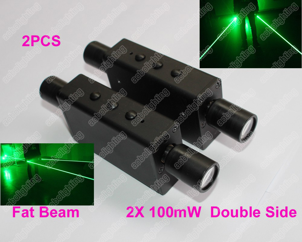 2pcs/lot Portable Fat Beam Laser Light 532nm Green Rechargeable Laser Sword double head Lazer Show Lighting Cool Stage Laser laser sword of the double head laser sword cu guangzhu stage performance props laser rod 100mw