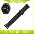 Banda de reloj del cuero genuino + adaptadores para samsung gear s2 SM-R720/SM-R730 Cerradura Magnética Correa de Liberación Rápida Pin Cinturón pulsera