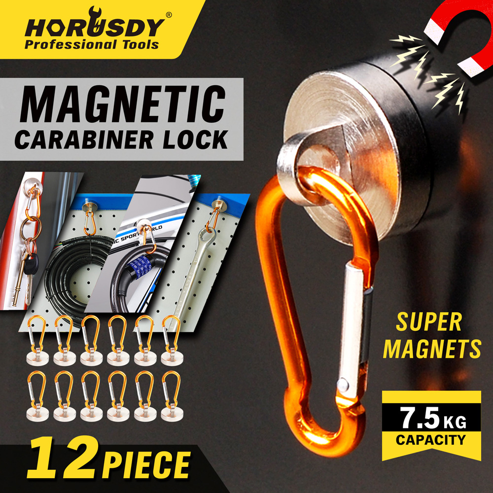 Strong Magnet Promotion Hand Tool Parts Carburador 12pcs Fortable Key Ring Holder Chain Cable Carabiner Clip Outdoor Ad1001-3 ebike 1000w lithium battery 48v 20 ah aluminium case rear rack bike electric bicycle lithium battery for samsung pack