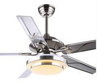 Luci ventilatore a soffitto ristorante moderno e minimalista soggiorno 52 pollici 48 pollice fan telecomando luci di soffitto del LED quattro luce