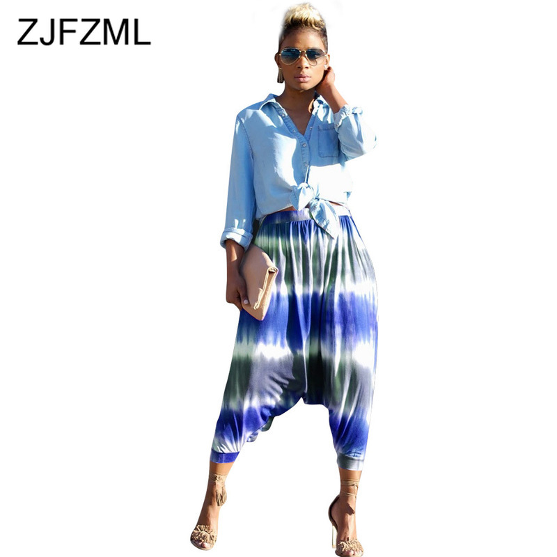 Womens Plus Size Paisley Printed Ladies Elasticated Tie Knot Long Pants Trousers
