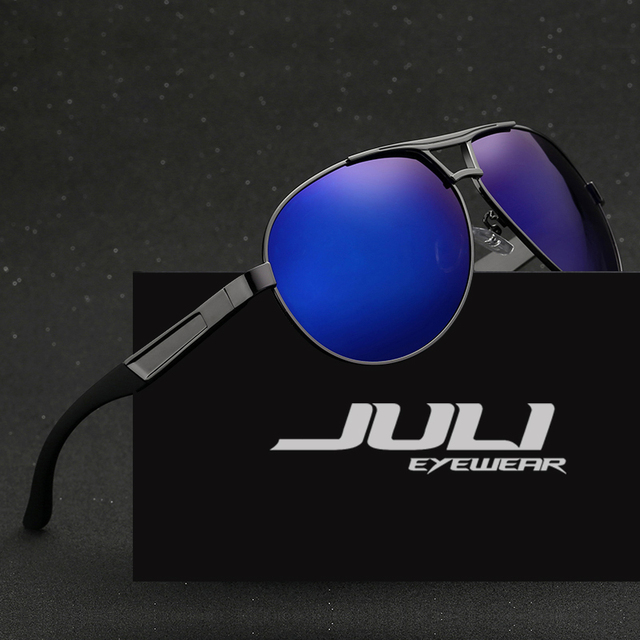 82bc2e2269 JULI EYEWEAR Aluminum Magnesium Brand Police Men Sunglasses Polarized UV400  Lens Sun Glasses Male Eyewears Accessories For Men