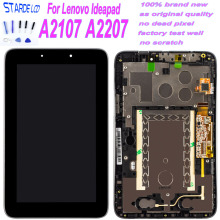 New 7'' LCD For Lenovo Ideapad A2107 A2207 Replacement LCD Display Touch Screen Panel Digitizer Glass with Frame Assembly new lcd display matrix for 7 dns airtab m76r tablet lcd display 1024x600 screen panel module glass replacement free shipping