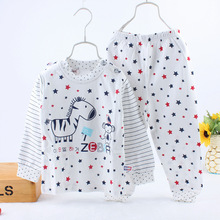 A children's underwear suit on behalf of men and women Tong Chunmian Buckle Shoulder underwear pajamas 2465 children