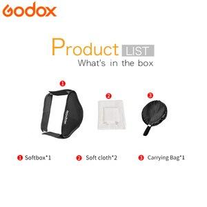 Image 2 - Godox Light Softbox 40*40 cm reflektor dyfuzora miękkie pudełko do lampy błyskowej pasuje do wspornika typu S fotografia wideo Studio akcesoria