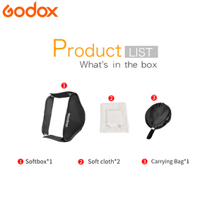 Image 2 - Godox Luce Softbox 40*40 centimetri Diffusore Riflettore soft Box per Flash misura per S Tipo Staffa fotografia video Studio accessori