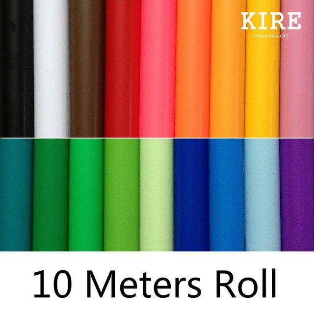 10 Mètres Auto Adhésif Coloré Papier Peint Stickers Muraux Pour