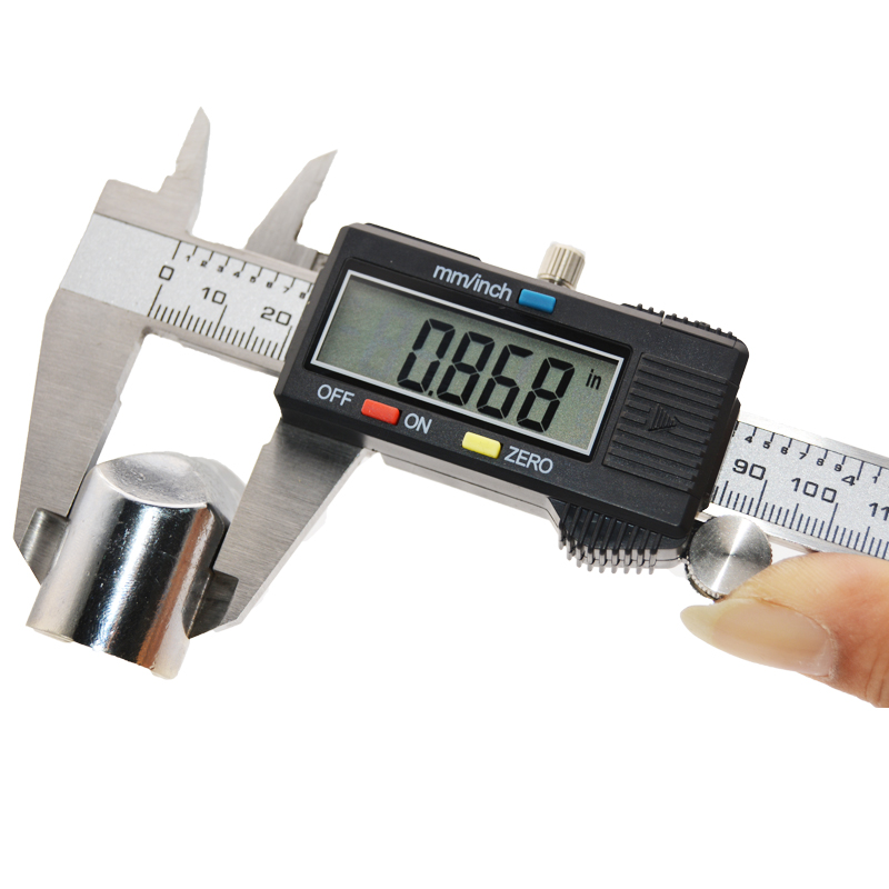 US $12 17 20% OFF|Electronic Digital Vernier Caliper 150mm Stainless Steel  Rule Gauge Micrometer 6 Inch LCD Measuring Ruler Tool caliper-in Calipers