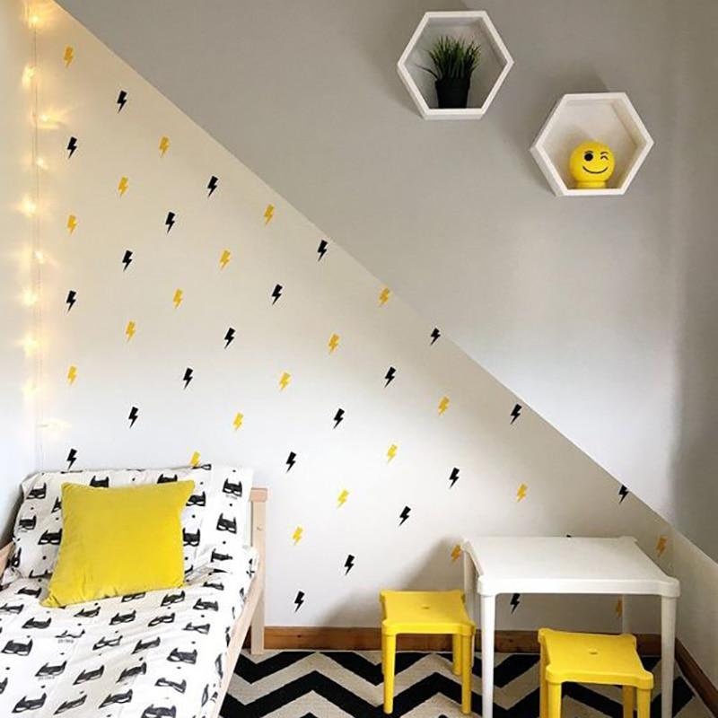 Superhero lightning Decorative Stickers Wall Sticker For Kids Room Baby Boy Room Wall Decal Stickers Nursery Bedroom Home Decor