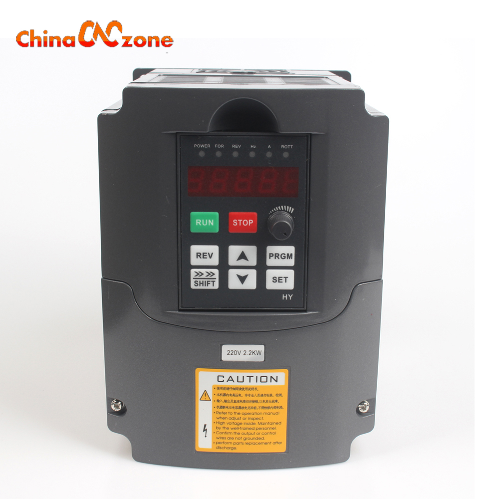 CNC Spindle Motor Speed Control 220V 2.2KW VFD Variable Frequency Drive VFD 1HP or 3HP Input 3HP Frequency Inverter for Motor cnc spindle motor speed control 0 75kw 220v vfd drive cnc control 1000hz frequency inverter input 1ph or 3ph vfd inverter