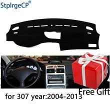 Per Peugeot 307 2004-2013 cruscotto tappetino pad di Protezione Ombra Cuscino Pad interni sticker car styling accessori