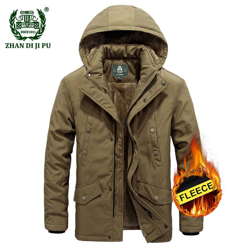 2018 Winter thicken military mens casual brand hooded army green jacket coat man afs jeep khaki jackets fleece black blue coats