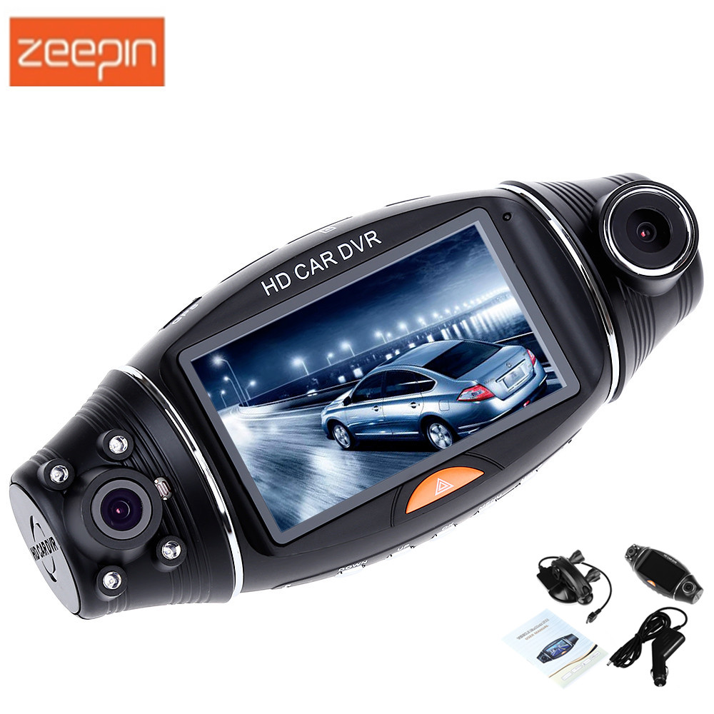 ZEEPIN 2.7 inch R310 Dual Lens Car DVR IR 1080P HD Dual Camera GPS Night Vision Rear View Camera Recorder Video Dash Cam