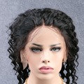 Новый Стиль Бразильской Глубокая Волна 360 Кружева Фронтальная Вернуться С Эластичного Кружева Фронтальная Закрытие Натуральных волос С Ребенком Волос ''-'