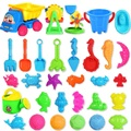Hot Sale 30PCS Bath Toy Sandy Beach Tool Hourglass Sand Tools Kids Beach Toy Set Children Shovel Outdoor Fun Toy Seal Bucket Car