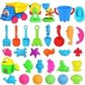 Hot Sale 30PCS Bath Toy Sandy Beach Tool Hourglass Sand Tools Kids Beach Toy Set Children Shovel Outdoor Fun Toy Seal Bucket Car