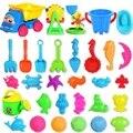 Venda quente 30 PCS Banho Brinquedo Ferramenta Praia Ampulheta Areia Ferramentas de Areia crianças Conjunto de Brinquedos de Praia Pá para Crianças Diversão Ao Ar Livre Brinquedo Balde Selo carro