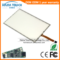 Win10 Compatible 15.6 inch 5 wire resistive USB touch screen overlay kit, pos pos touch screen 15.6 with USB controller