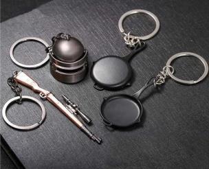 PUBG MOBILE Keychain Battle Grounds Helmet Pan 98K Gun