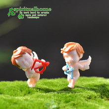 A DIY Moss Micro Landscape Decoration Angel Assembled Toy Ornaments Resin Crafts Birthday Holiday Gift