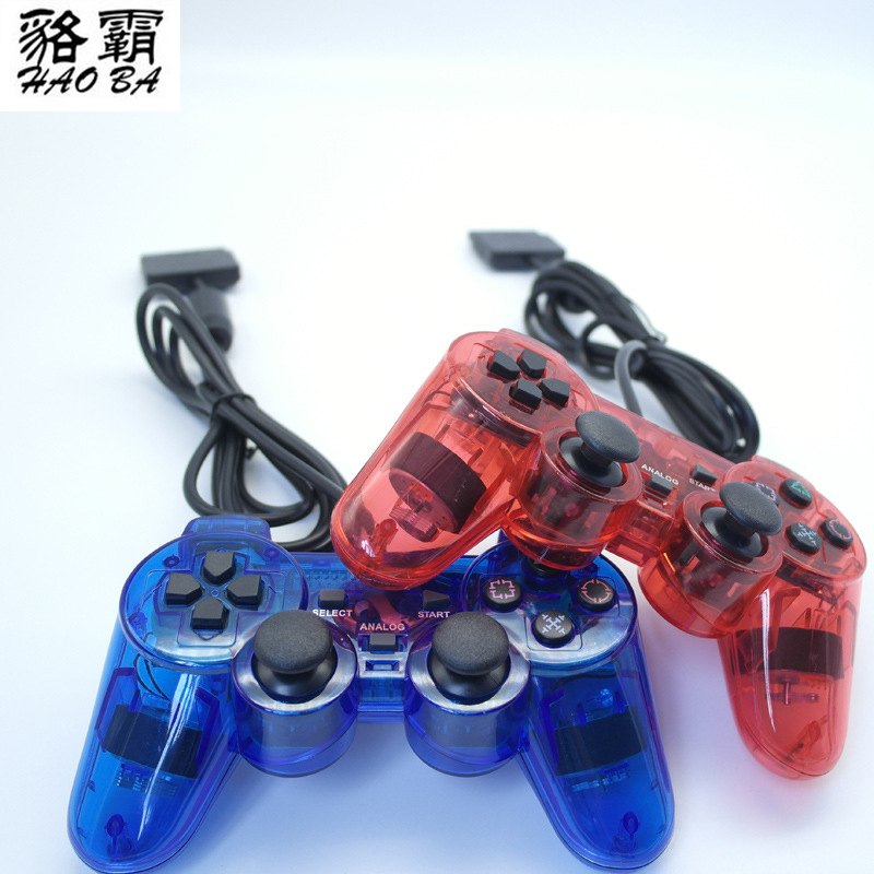 HAOBA 2pcs Good quality 1 5M Wired Controller For PS2 Double Vibration Joystick Gamepad For Playstation
