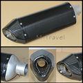 Carbon fiber color 51mm Exhaust Muffler with move blow-down silencer Mute Fit for Most motorcycle with sticker CBR400/1000