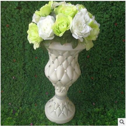 Tromba vaso Decorazione vaso di fiori colonna Roma road fase del fiore decorazione di cerimonia nuziale del commercio all'ingrosso Roma colonna strada nozze citata