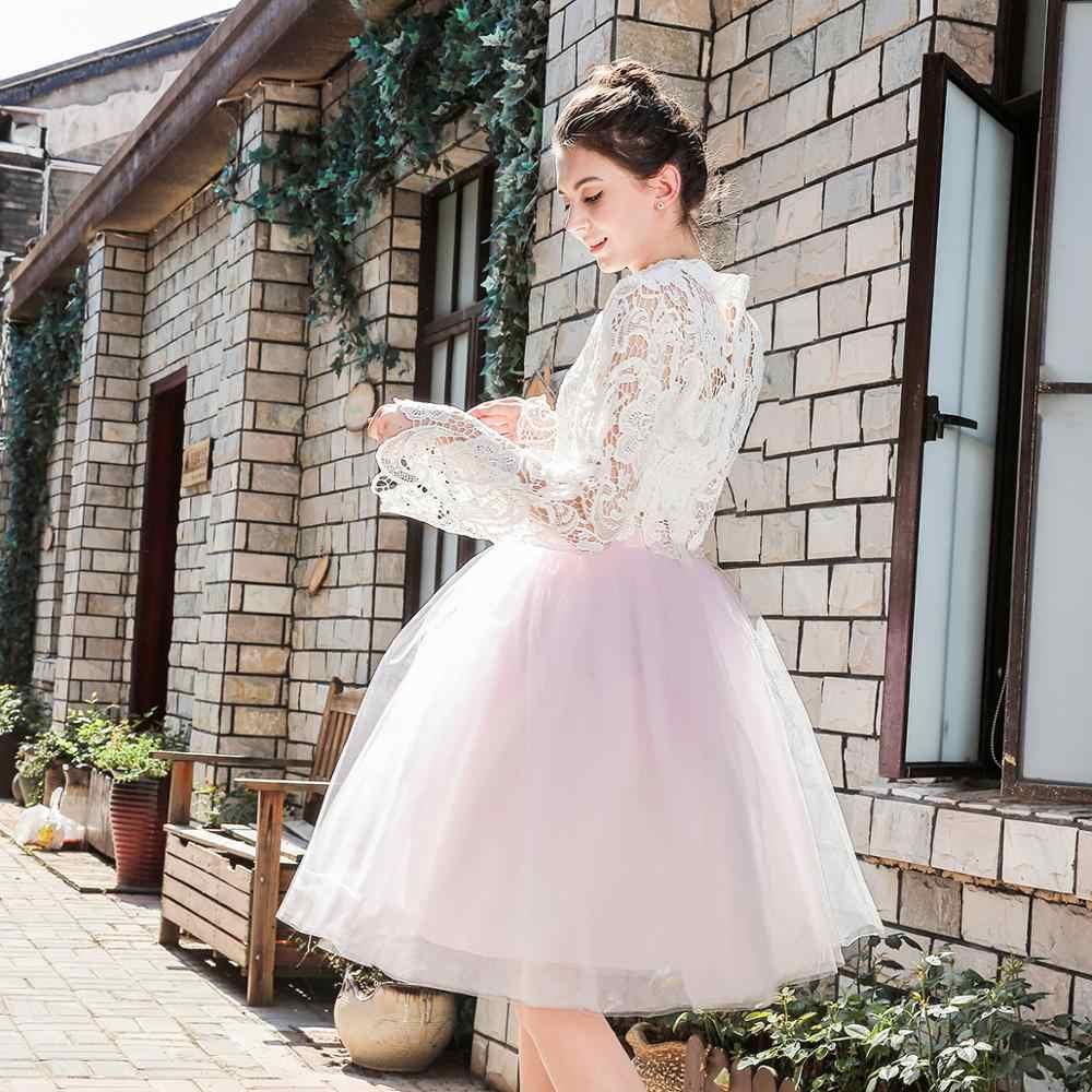5 שכבות Midi טול חצאיות נשים אופנה טוטו חצאית אלגנטית חתונה כלה שושבינה חצאית חתונה לוליטה תחתוניות תחתונית