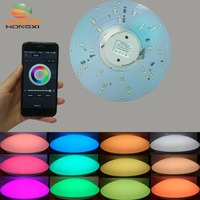 18w RGBW RF Remote Control Or Wifi Control Color And Brightness Adjustable Led Ceiling Light Plate