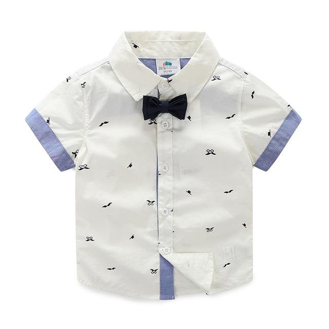Camiseta de los muchachos Corbata Impresión T Camisa Niño Camisa Del Bebé de Manga Corta de Verano Niños de La Manera Ropa 2343