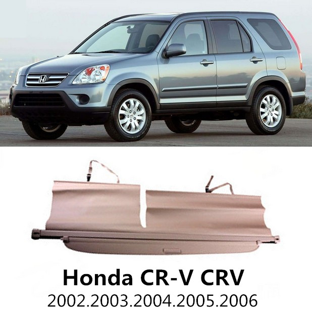 Car Rear Trunk Security Shield Cargo Cover For Honda CR-V CRV 2002.2003.2004.2005.2006 High Qualit Black Beige Auto Accessories car rear trunk security shield cargo cover for mitsubishi outlander 2013 2014 2015 high qualit black beige auto accessories