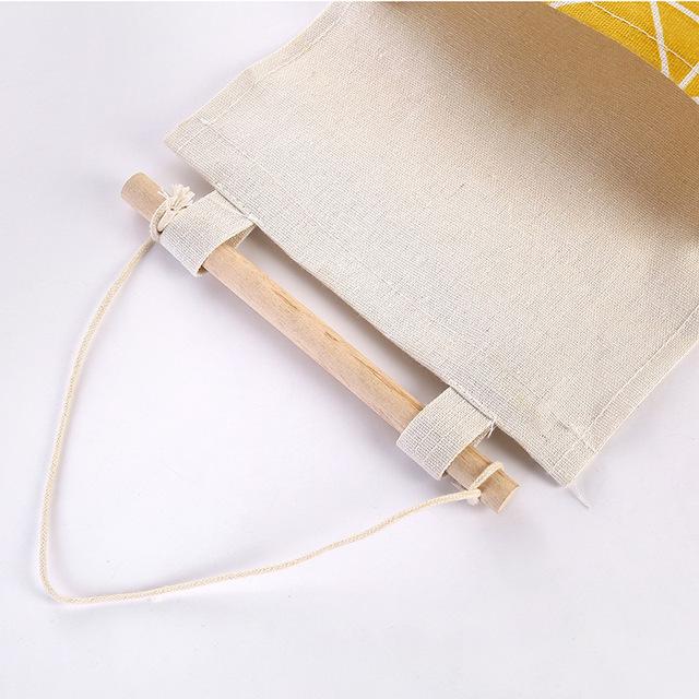Multi-Layer Wall Cotton Line Hanging Organizer Bag