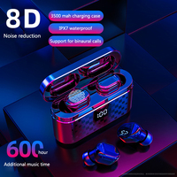 Sale Stereo Sound Bluetooth V5.0 Earphone Portable TWS Wireless Sport Headphones Touch Headset with 3500mAh charge box earphones