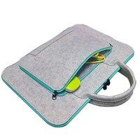 Fashion Wool Felt Universal 11 13 15 17 Inch Laptop Bag Laptop Case Briefcase Handlebag For