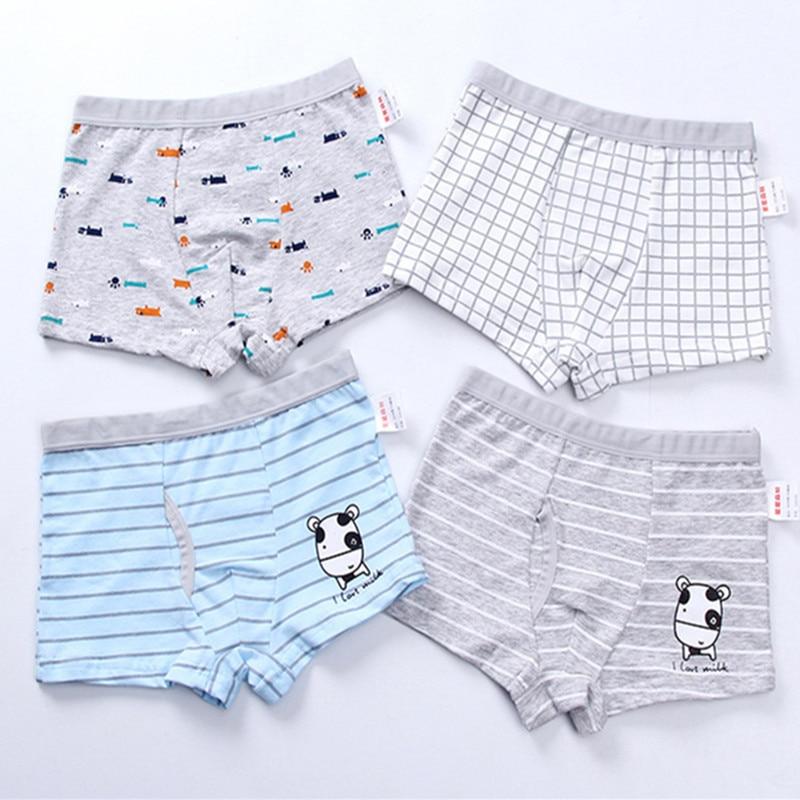 2Pc/Lot Boys Panties Cotton Boxer Shorts Briefs Kids  Children Clothes Underpants 110-160 2