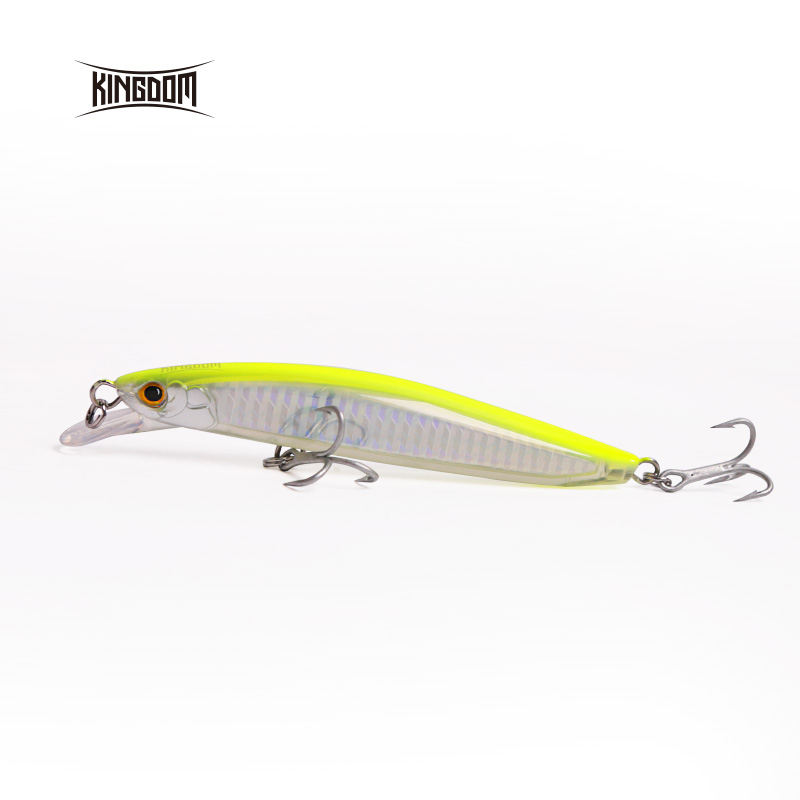 Kingdom Fishing Hard Lure Floating Bait Minnow New Arrival 120mm 23g, 130mm 30g With Strong Hooks Six Color Available Model 7502 yo zuri f978 hsbl crystal 3d minnow f 130mm