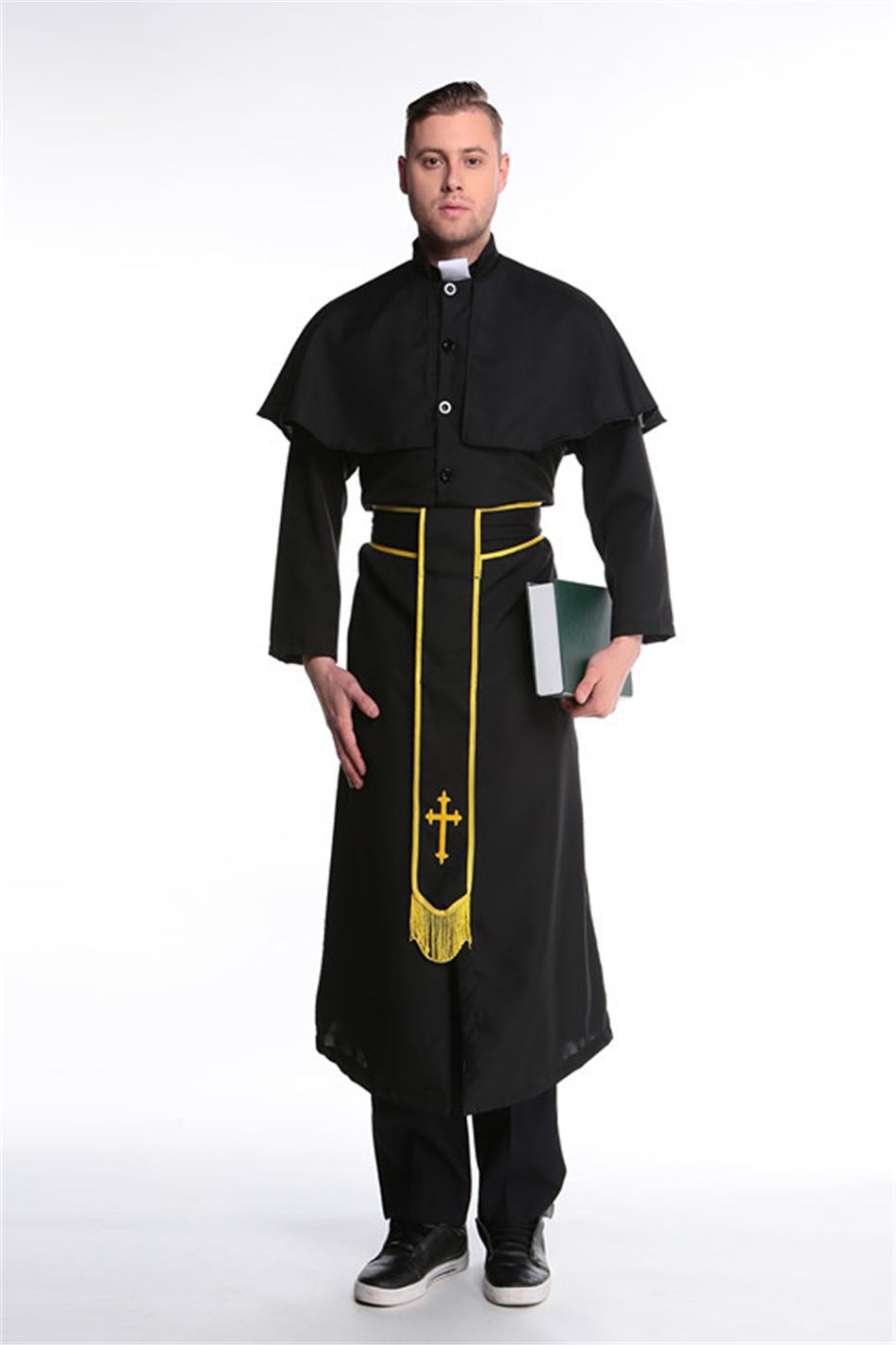 Medieval Cosplay Halloween Costumes for Women Priest Nun Missionary Costume Set 14