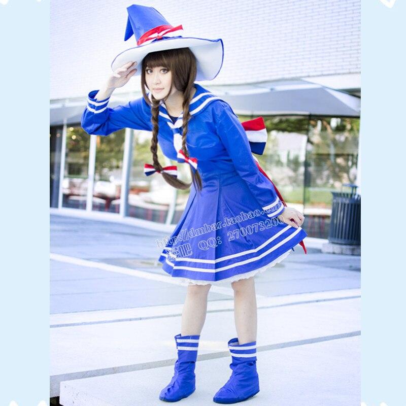 Wadanohara et la grande mer bleue Cosplay perruque Cosplay Costume